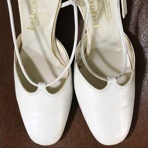 Vintage 1960s Joyce California White Sandals